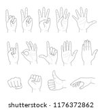 hand collection. set of... | Shutterstock .eps vector #1176372862
