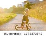 cute toddler child  boy ... | Shutterstock . vector #1176373942