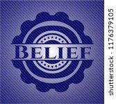 belief jean or denim emblem or... | Shutterstock .eps vector #1176379105