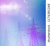 blue electric power... | Shutterstock .eps vector #1176381268