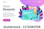 discount card with percent sign ... | Shutterstock .eps vector #1176382558