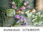 healthy plants  bottle of... | Shutterstock . vector #1176383245