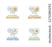 let's talk about summer  winter ... | Shutterstock .eps vector #1176384292