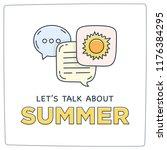 let's talk about summer doodle... | Shutterstock .eps vector #1176384295