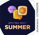 let's talk about summer doodle... | Shutterstock .eps vector #1176384298