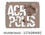 acropolis. athens  greece logo... | Shutterstock .eps vector #1176384682