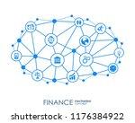 finance mechanism interact... | Shutterstock .eps vector #1176384922
