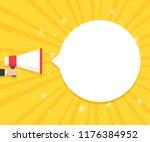 speech bubbles announced by... | Shutterstock .eps vector #1176384952