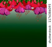 Background With Fuchsia Flowers