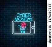 cyber monday neon advertising...