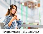 beautiful young asian girl... | Shutterstock . vector #1176389965