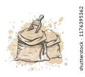 vector illustration of hand... | Shutterstock .eps vector #1176395362