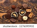 handmade chocolate candies and... | Shutterstock . vector #1176395932
