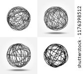 sketch of the sphere. round... | Shutterstock .eps vector #1176398512