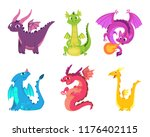 cute dragons. fairytale... | Shutterstock .eps vector #1176402115