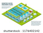 water cleaning factory. sewage... | Shutterstock .eps vector #1176402142