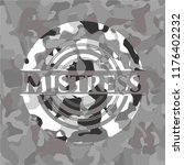 mistress on grey camouflage... | Shutterstock .eps vector #1176402232