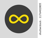 infinity icon on gray... | Shutterstock .eps vector #1176402805