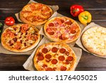 small mini pizza  mini ... | Shutterstock . vector #1176405025