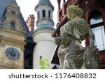 marble statue of a woman on a...   Shutterstock . vector #1176408832