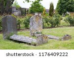 two old and weathered stone... | Shutterstock . vector #1176409222