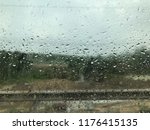 when see out of the rain drops... | Shutterstock . vector #1176415135