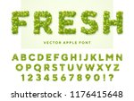 fresh vector font made of green ... | Shutterstock .eps vector #1176415648