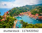 beautiful bay with colorful... | Shutterstock . vector #1176420562