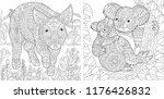 coloring pages. coloring book... | Shutterstock .eps vector #1176426832