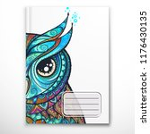 notebook cover template with...   Shutterstock .eps vector #1176430135