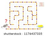 logic puzzle game with... | Shutterstock .eps vector #1176437335