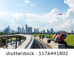 singapore   may   2018  people... | Shutterstock . vector #1176441802