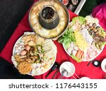 hot pot or steamboat asian... | Shutterstock . vector #1176443155