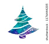 watercolor stylized christmas... | Shutterstock .eps vector #1176444205