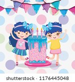 girls and sweets | Shutterstock .eps vector #1176445048