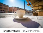 morning coffee on the... | Shutterstock . vector #1176448948