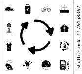 arrows in a circle icon....