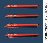 lower third design template.... | Shutterstock .eps vector #1176466168