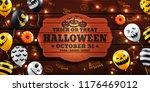 halloween background with... | Shutterstock .eps vector #1176469012
