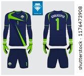 goalkeeper jersey or soccer kit ... | Shutterstock .eps vector #1176473908