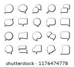 speech bubble thin line icon... | Shutterstock .eps vector #1176474778
