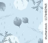 floral scarf pattern on blue...   Shutterstock .eps vector #1176482965