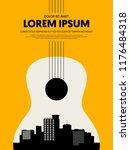 music festival poster design... | Shutterstock .eps vector #1176484318