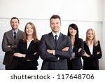 group of business people with... | Shutterstock . vector #117648706