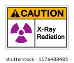 caution x ray radiation symbol... | Shutterstock .eps vector #1176488485