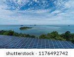 solar panels powering a... | Shutterstock . vector #1176492742