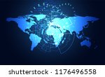 abstract big data communication ... | Shutterstock .eps vector #1176496558