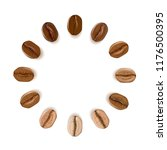 realistic coffee beans of... | Shutterstock .eps vector #1176500395