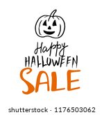 halloween sale vector banner...   Shutterstock .eps vector #1176503062
