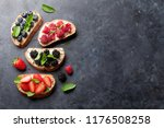 brushetta or traditional... | Shutterstock . vector #1176508258